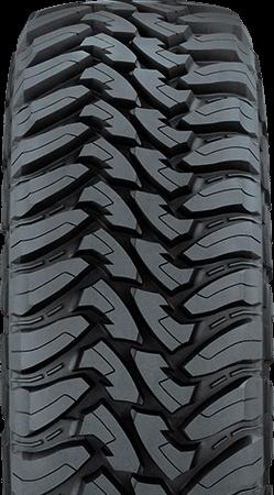 Primer plano de la banda de rodadura del neumático