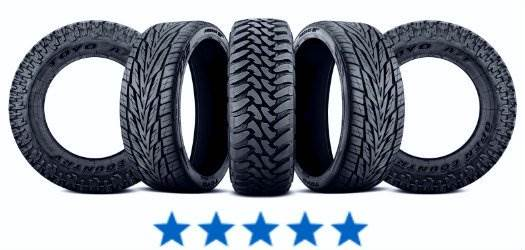 Five Star Rating With Tire Lineup